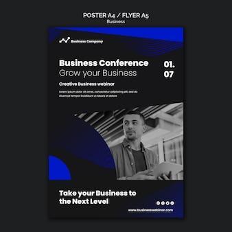 Druckvorlage für ein business-webinar