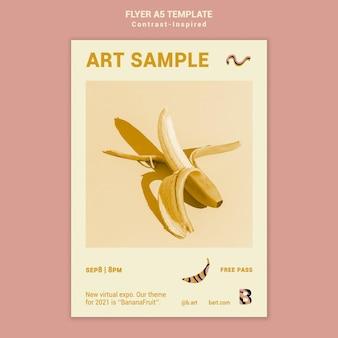 Druckvorlage für eine kontrastreiche kunstausstellung