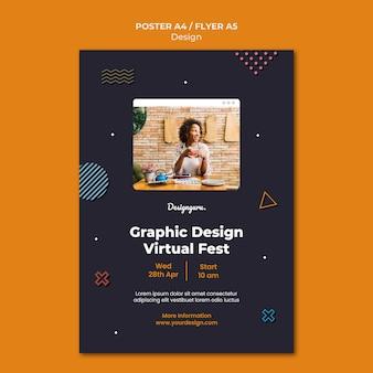 Druckvorlage für grafikdesign mit foto