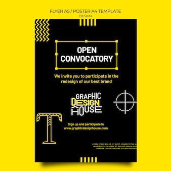Druckvorlage für grafikdesigndienste