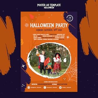 Druckvorlage für halloween-party