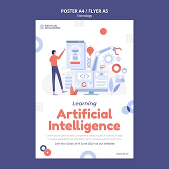 Druckvorlage für künstliche intelligenz