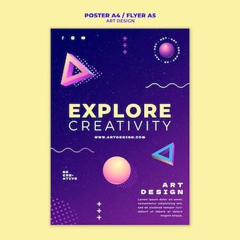 Druckvorlage für kunstdesign
