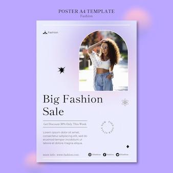 Druckvorlage für mode und stil