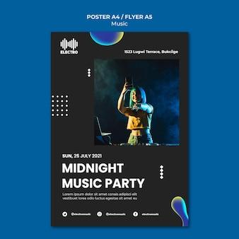 Druckvorlage für musikpartys