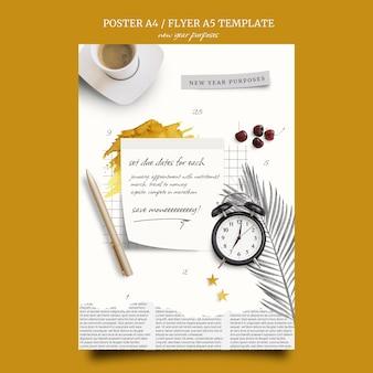 Druckvorlage für neujahrszwecke