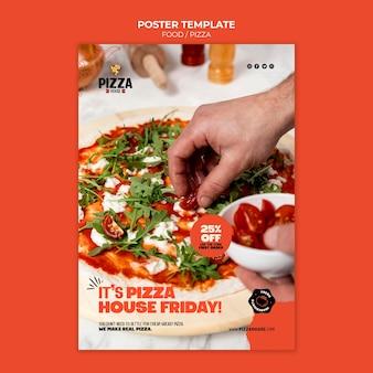 Druckvorlage für pizzarestaurants