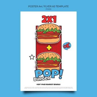 Druckvorlage für pop-art-essen