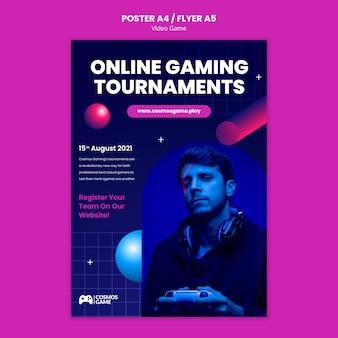 Druckvorlage für videospiele