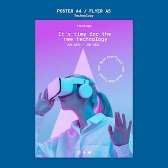 Druckvorlage für virtuelle realität