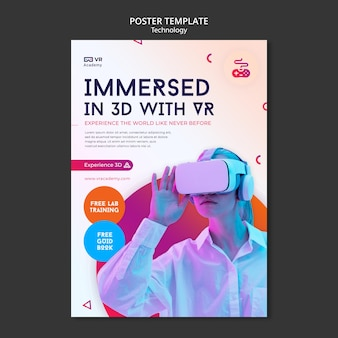 Druckvorlage für virtuelle realität Kostenlosen PSD