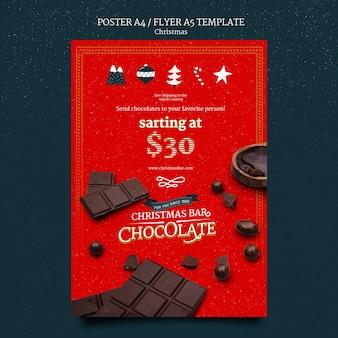 Druckvorlage für weihnachtsschokolade