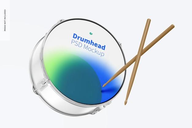 Drumhead mockup, fallend