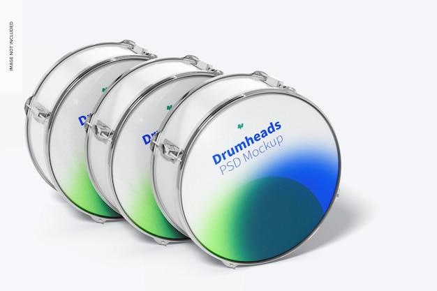 Drumheads set mockup