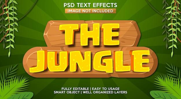 Dschungel-texteffektschablone