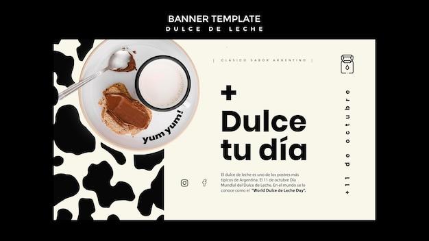 Dulce de leche konzept banner vorlage