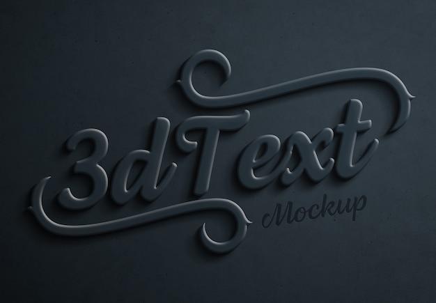 Dunkelblaues mutiges effekt modell des textes 3d
