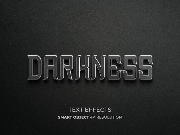Dunkelheitstexteffekt mit muster