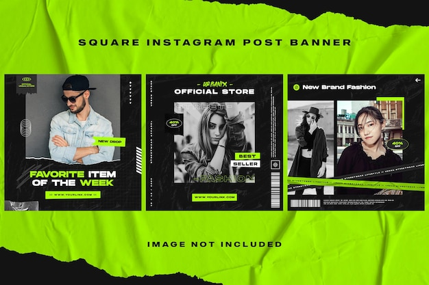 Dunkle mode instagram post banner vorlage