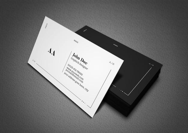 Dunkle und minimale visitenkarte