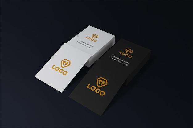 Dunkles designmodell der markenidentitäts-visitenkarte