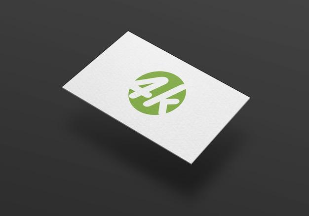 Dunkles visitenkarte-modell