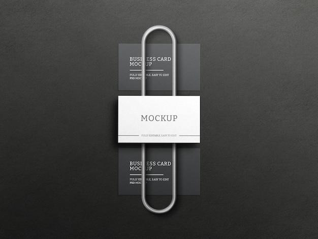 Dunkles visitenkartenmodell