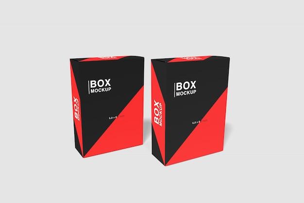 Duo realistische box mockup