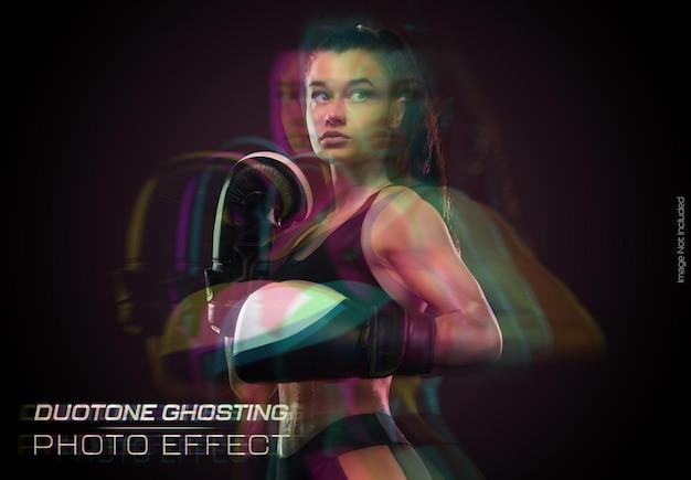 Duotone ghosting fotoeffekt