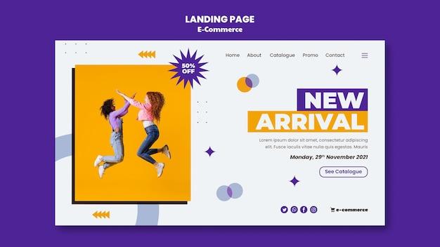 E-commerce-landingpage-vorlage
