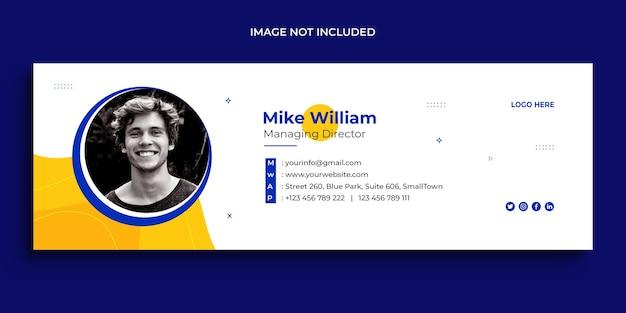 E-mail-signatur-design, e-mail-fußzeile, persönliche social-media-cover-vorlage
