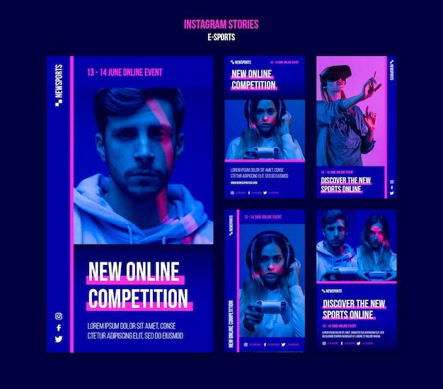 E-sport-insta-story-designvorlage