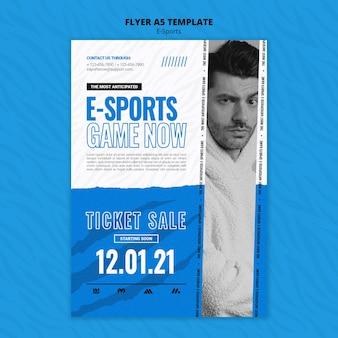 E-sport vertikale druckvorlage