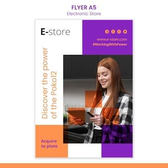E-store-flyer-vorlage