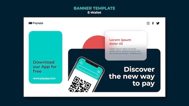 E-wallet-banner-designvorlage
