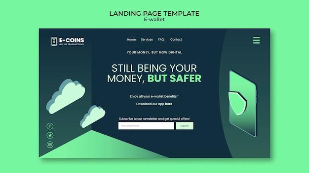 E-wallet-landingpage-designvorlage