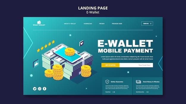 E-wallet-landingpage-vorlage