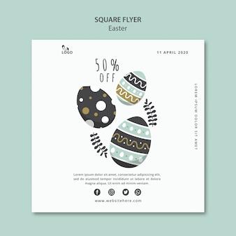 Easter square flyer mit rabatt