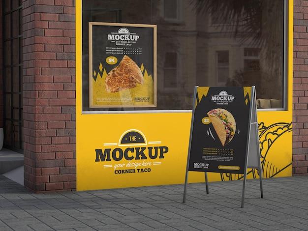 Eckgeschäftsmodell für tacos