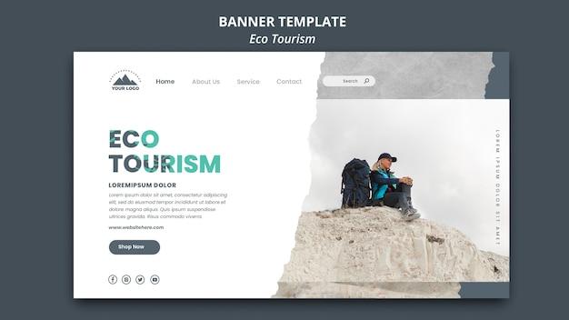 Eco tourismus banner vorlage