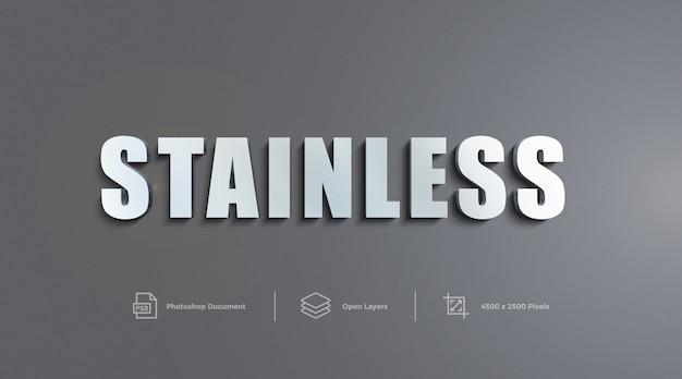Edelstahl-text-effekt-design photoshop-ebenenstil-effekt