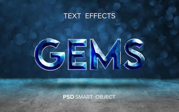 Edelstein-texteffekt-design Premium PSD