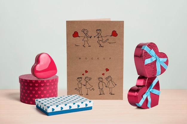 Editierbares szenenschöpfermodell mit valentinsgrußtageskonzept