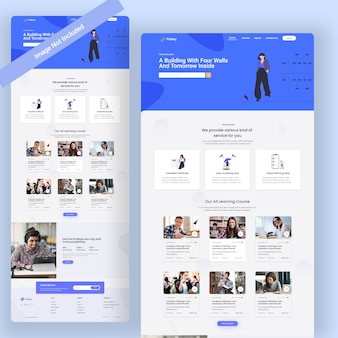 Education web landing page