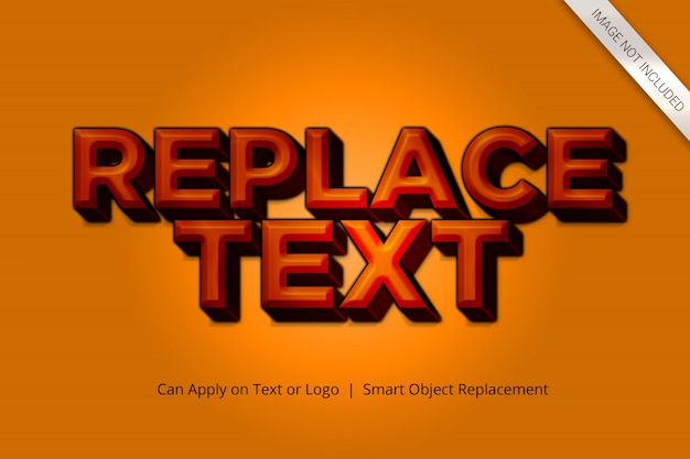 Effekt-art des modell-text-3d
