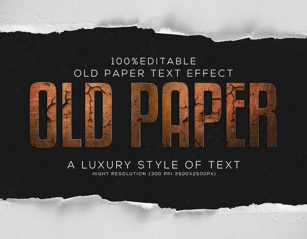 Effekt im alten papiertextstil