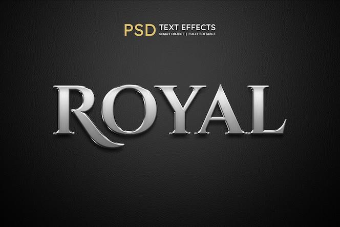 Effekt im königlichen textstil
