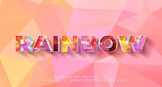 Effekt im regenbogenstil