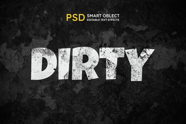 Effekt im schmutzigen textstil
