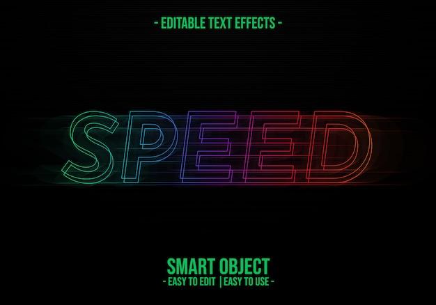 """Effekt """"textstil beschleunigen"""""""